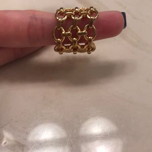 Henri Bendel chain link ring size 7